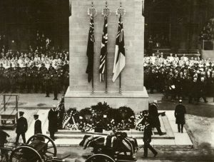 Passing the Cenotaph